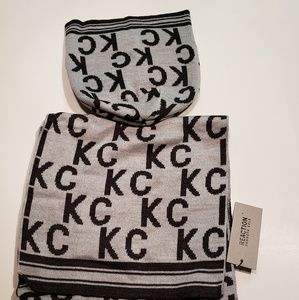 REACTION KENNETH COLE Signature KC Scarf & Beanie